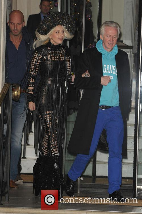 Lady Gaga and Philip Treacy 3