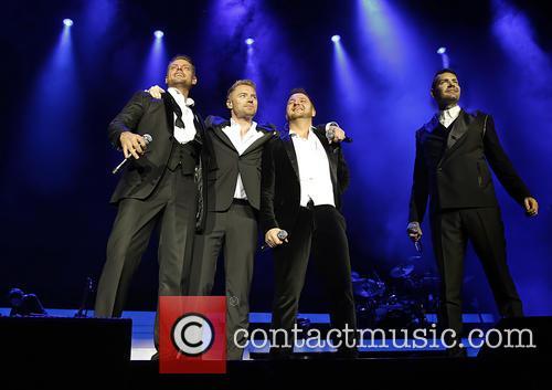 Keith Duffy, Ronan Keating, Mikey Graham, Shane Lynch, Liverpool Echo Arena