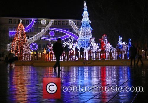 Christmas scenes in the black sea town of...