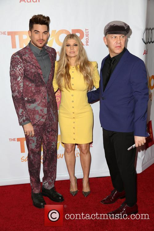 Adam Lambert, Fergie and Ryan Murphy 4