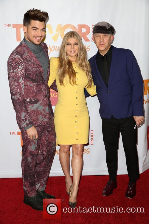 Adam Lambert, Fergie and Ryan Murphy 9