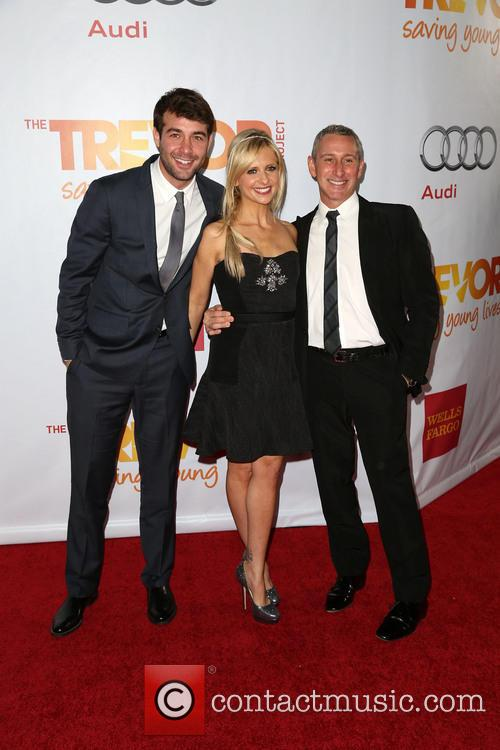 James Wolk, Sarah Michelle Gellar and Adam Shankman 5