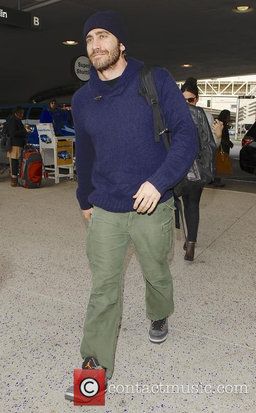 Jake Gyllenhaal departing from LAX