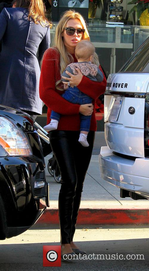 Petra Ecclestone out and about with her baby...