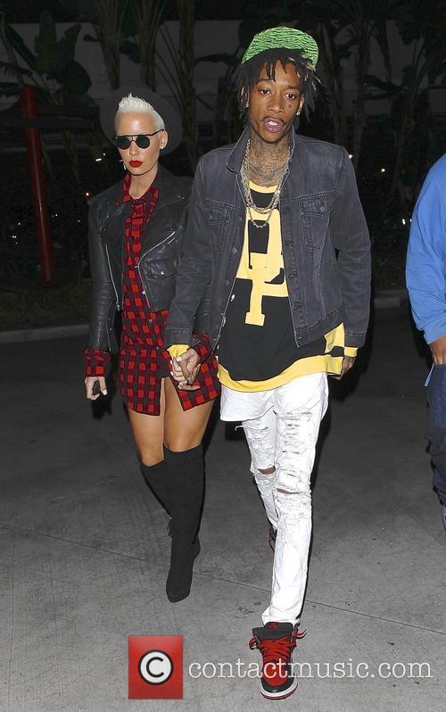 Wiz Khalifa and Amber Rose 1