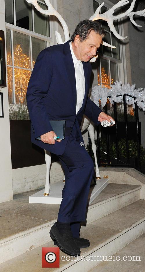 Charles Saatchi leaving 34 Restaurant