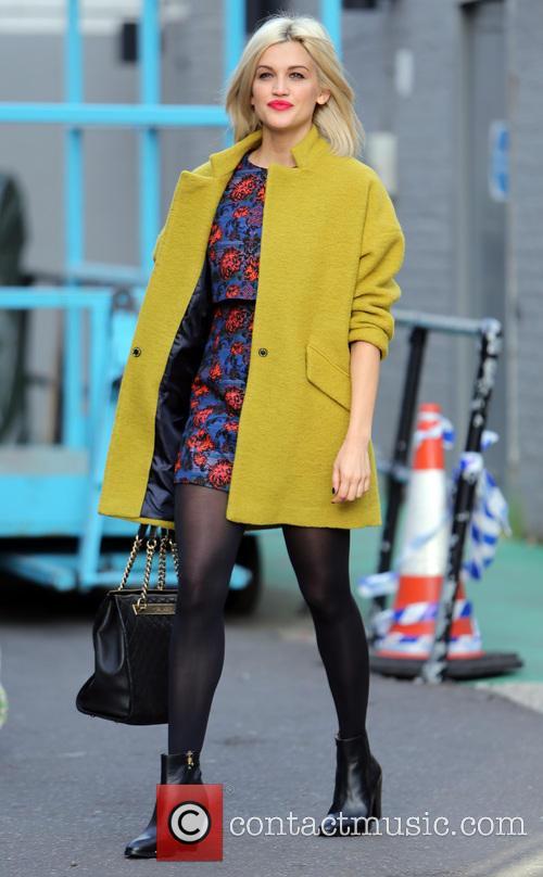 Ashley Roberts outside the ITV studios