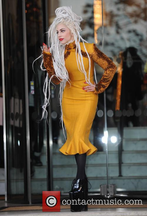 Lady Gaga seen out in London