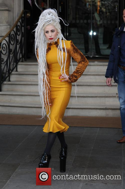 Lady Gaga seen leaving her London hotel