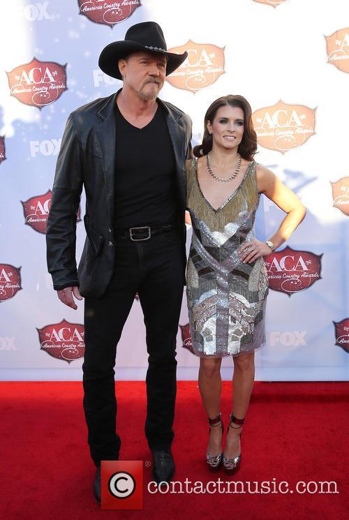 Trace Adkins and Danica Patrick 2