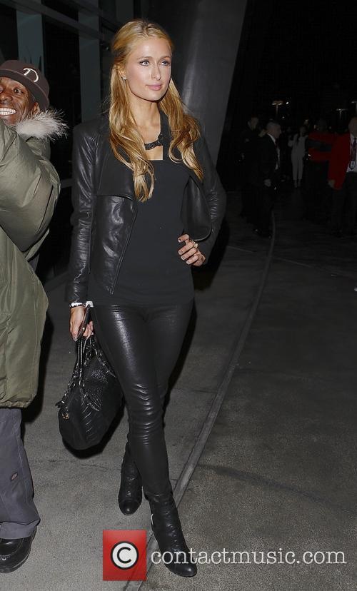 Paris Hlton leaving the Jay Z concert