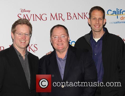 Andrew Stanton, John Lasseter and Pete Docter 2