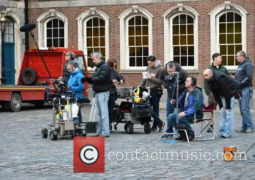 'Citizen Charlie' being filmed at Dublin Castle