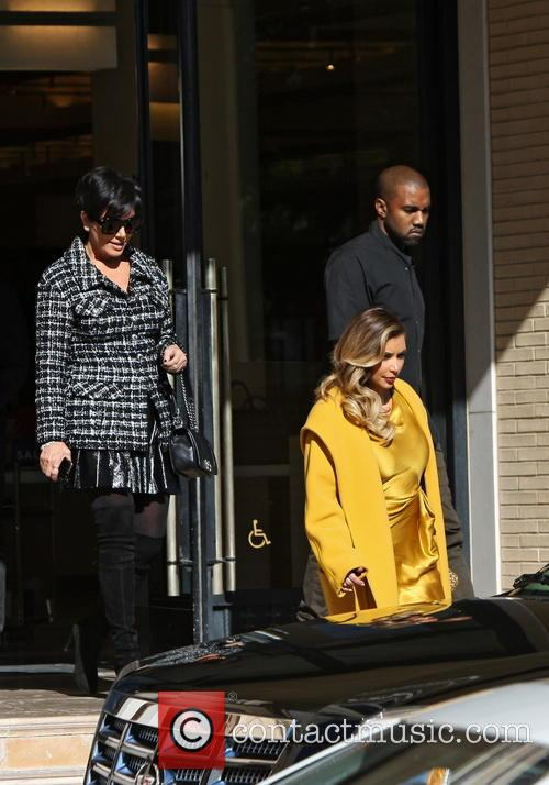 Kim Kardashian, Kanye West and Kris Jenner 2