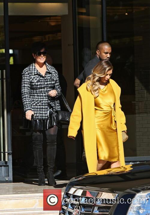 Kim Kardashian, Kanye West and Kris Jenner 1