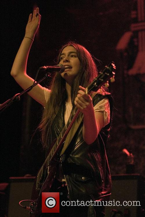 Haim performing live in concert
