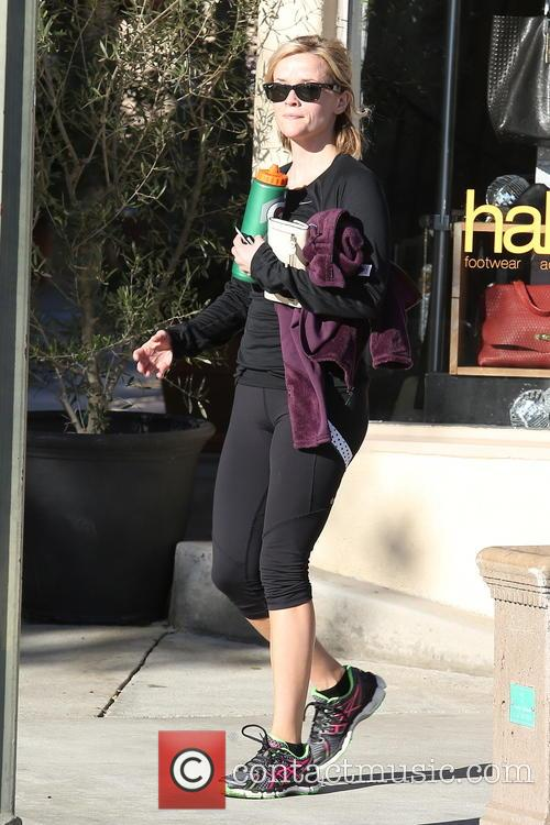 Reese Witherspoon seen leaving her spinning class