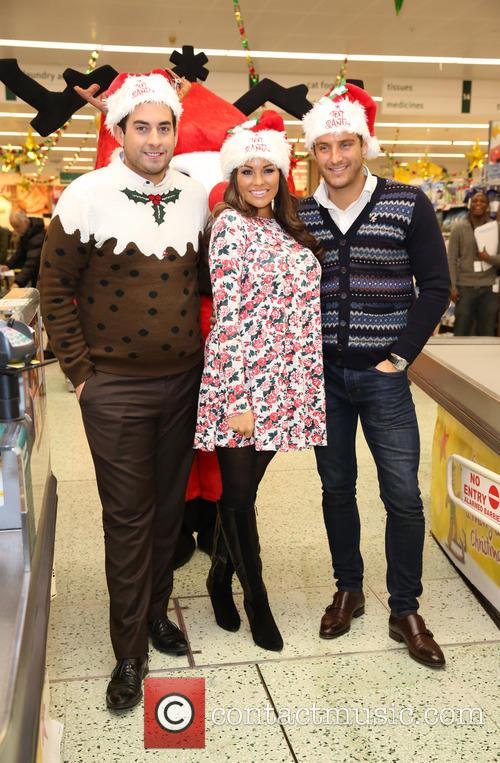 Celebrities pack bags at Morrisons for the 'Text...