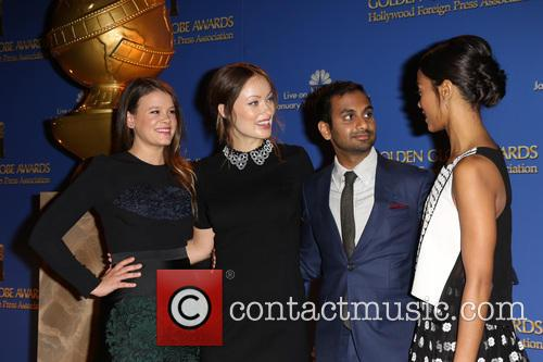Sosie Bacon, Olivia Wilde, Aziz Ansari and Zoe Saldana 2