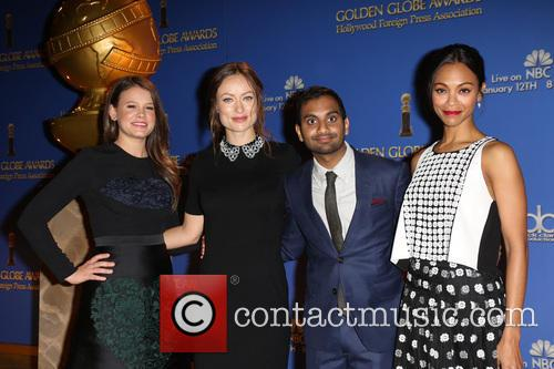Sosie Bacon, Olivia Wilde, Aziz Ansari and Zoe Saldana 3