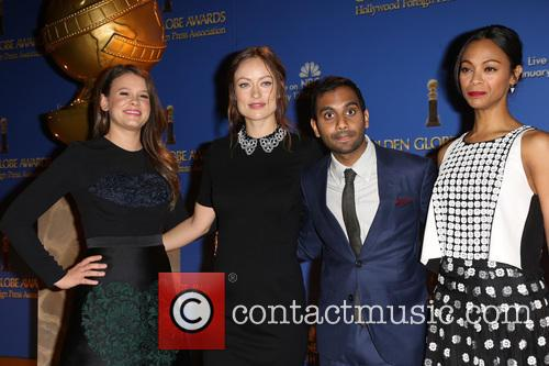 Sosie Bacon, Olivia Wilde, Aziz Ansari and Zoe Saldana 6