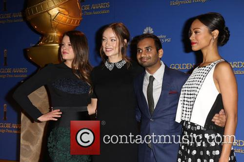 Sosie Bacon, Olivia Wilde, Aziz Ansari and Zoe Saldana 7