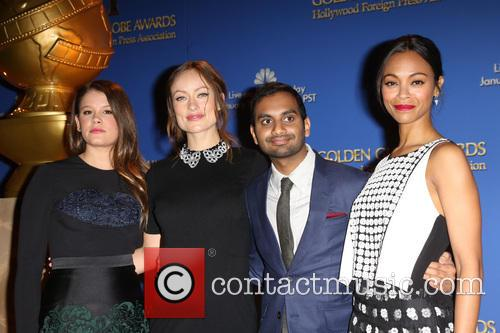 Sosie Bacon, Olivia Wilde, Aziz Ansari and Zoe Saldana 1