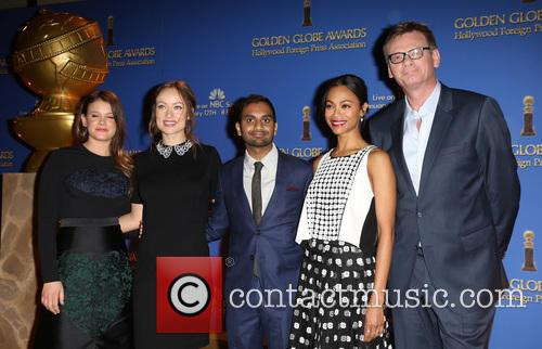 Sosie Bacon, Olivia Wilde, Aziz Ansari, Zoe Saldana and Theo Kingma 4