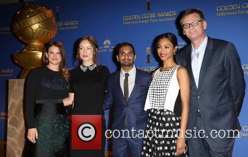 Sosie Bacon, Olivia Wilde, Aziz Ansari, Zoe Saldana and Theo Kingma 5
