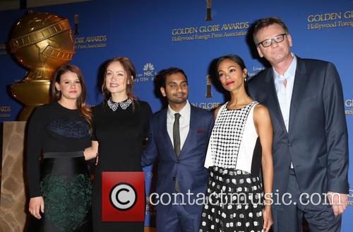 Sosie Bacon, Olivia Wilde, Aziz Ansari, Zoe Saldana and Theo Kingma 8