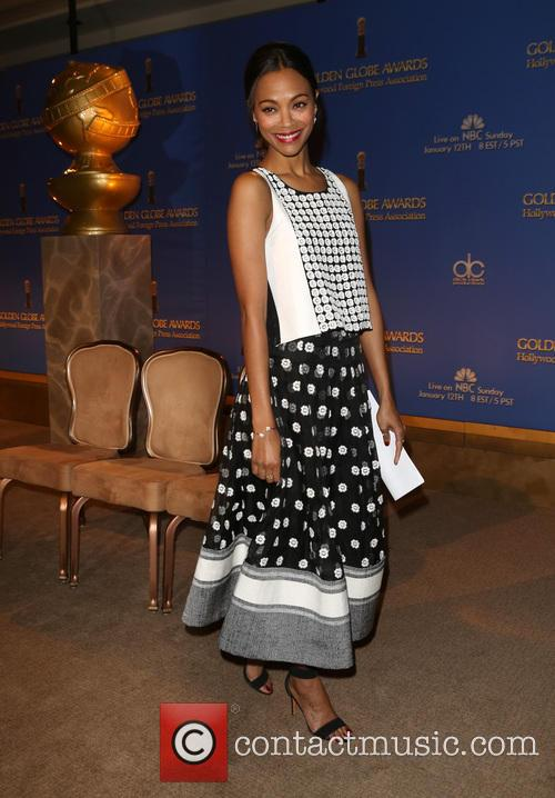 Zoe Saldana, Beverly Hilton Hotel, Golden Globe Awards