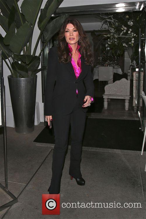 Lisa Vanderpump plays host at her restaurant Villa...