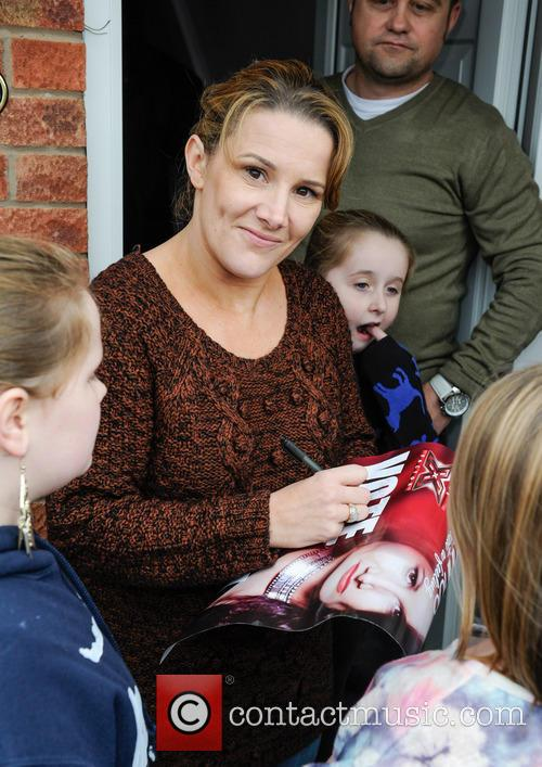 X Factor finalist Sam Bailey arrives at her...