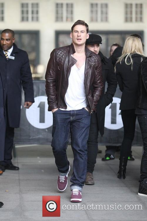 Lee Ryan of Blue arriving at the BBC...