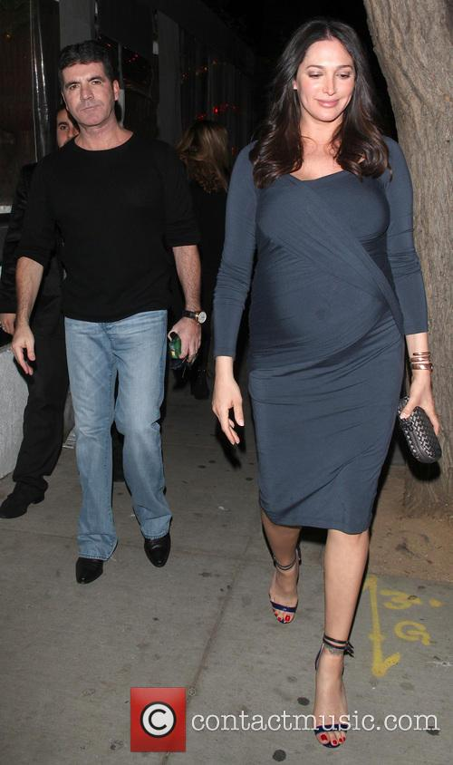 Simon Cowell and Lauren Silverman arrive at Sur...