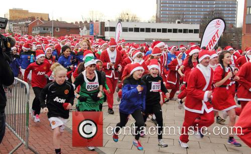 Manchester United Foundation Santa Run