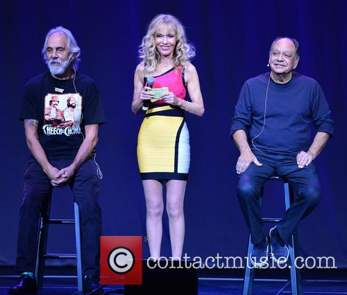 Tommy Chong, Shelby Chong and Cheech Marin 1