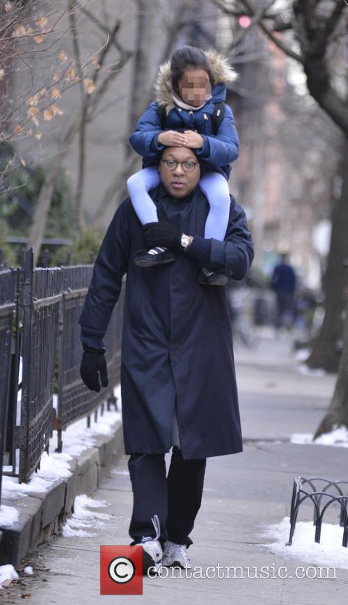 Wynton Marsalis out and about with daughter