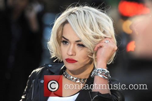 Rita Ora shoots a DKNY commercial in New York City