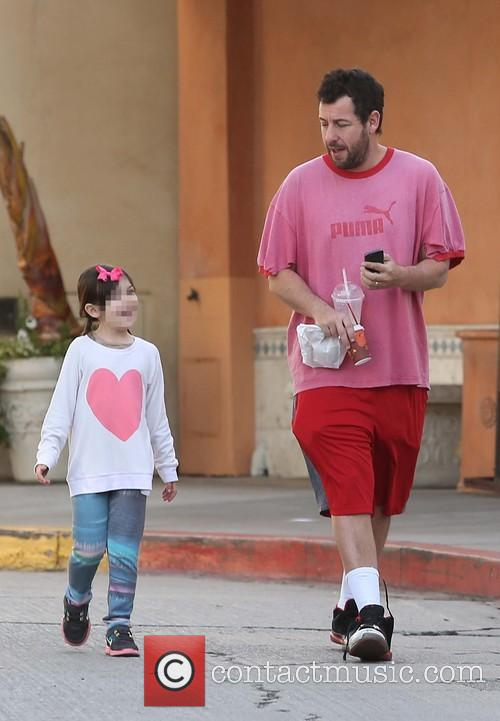 Adam Sandler out and about with his daughter