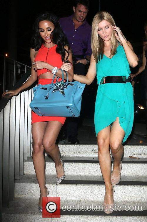 Carmen Electra, Lilly Ghalichi and Joanna Krupa leaving...