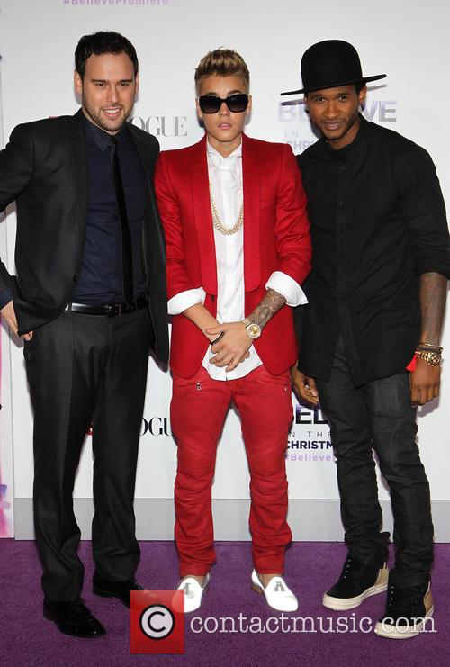 Scooter Braun, Justin Bieber and Usher 2