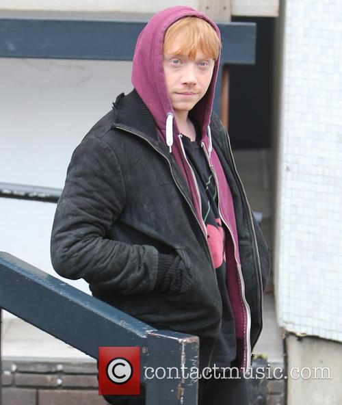 Rupert Grint outside the ITV studios
