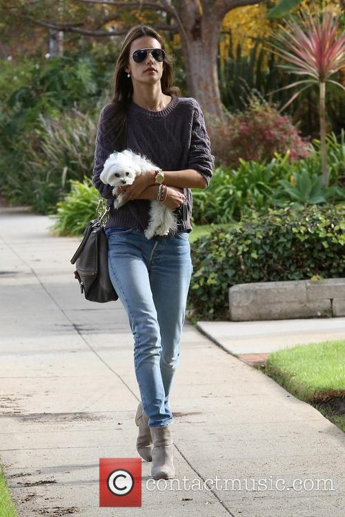 Alessandra Ambrosio out with her daughter Anja and...