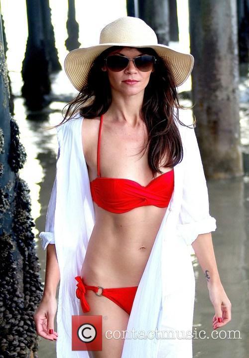 Danielle Vasinova poses on Santa Monica Beach