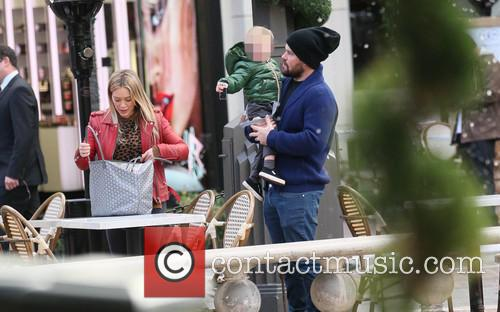 Hillary Duff, Luca and Mike Comrie 2