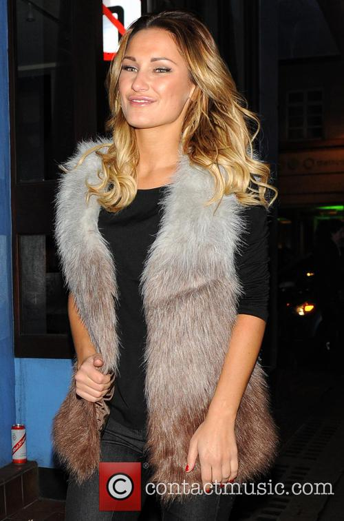 Sam Faiers out in Soho