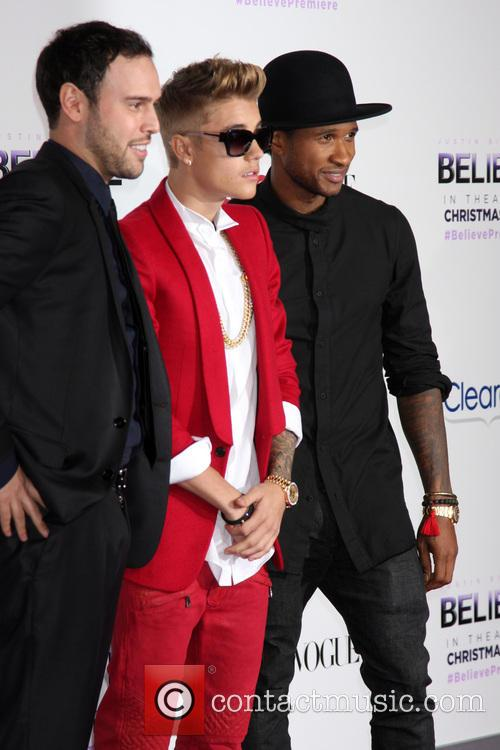 Scooter Braun, Justin Bieber and Usher 6