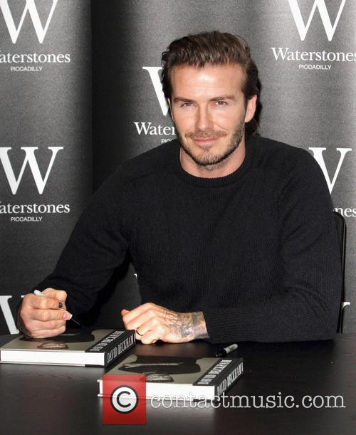 David Beckham, Waterstones, Piccadilly, London
