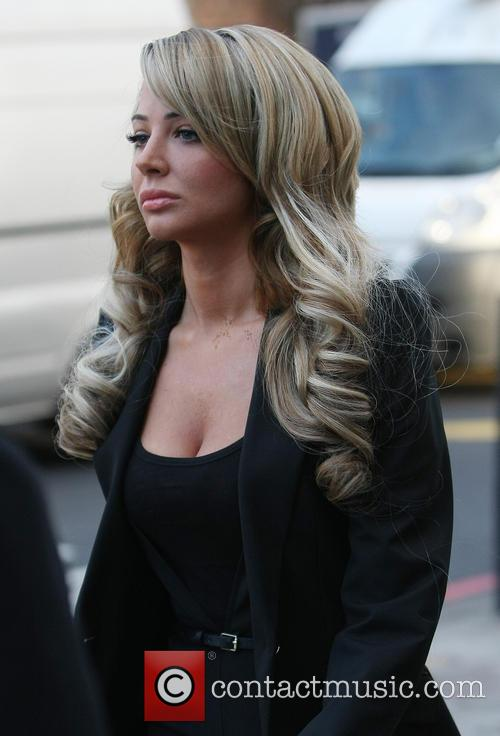 Tulisa arriving at Westminster Magistrate Court